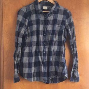 J Crew perfect shirt soft flannel plaid M